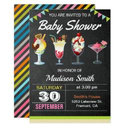 Colorful Ice Cream Sundae Baby Shower