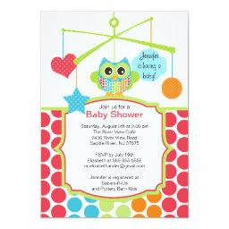 Colorful Owl Mobile Baby Shower