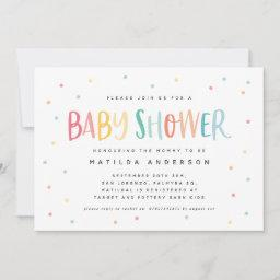 Colourful Rainbow Stripe And Dot Baby Shower