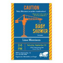 Construction Site Baby Shower