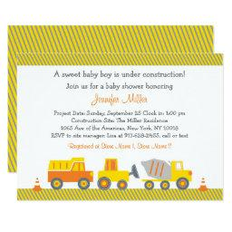 Construction Truck Baby Shower