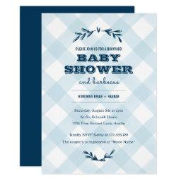 Country Gingham Baby Shower Invitation