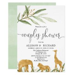 Couples Baby Shower, Coed Safari Baby Shower Invitation