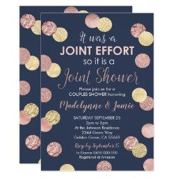 Couples Baby Shower Invitation Joint Effort