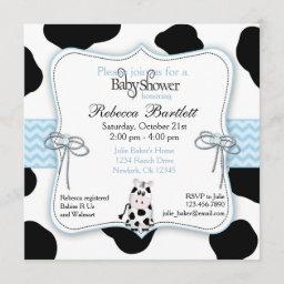 Cow Cowboy Baby Shower Invitation