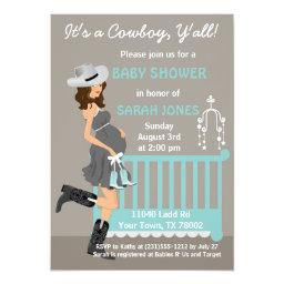 Cowboy Baby Shower  - Brunette Western