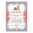 Cowboy Baby Shower Invitation Navy And Red Paisley