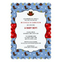 Cowboy Baby Shower Invite WESTERN / birthday party