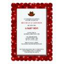 Cowboy Baby Shower Invite Western Red Bandana