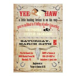 Cowboy Bucking Bronco Couples Baby Shower