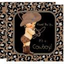 Cowboy Country Western Baby Shower Invitation