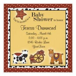 Cowboy or Cowgirl Baby Shower