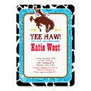 Cowboy Western Old West Baby Shower Invitation
