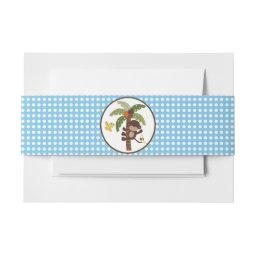 Curly Tails Monkey on Tree Polka Dots Belly Band