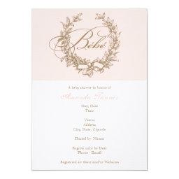 Custom Bebe - Pink French Baby Shower Invitation