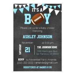 Custom Boy Chalkboard Football Theme