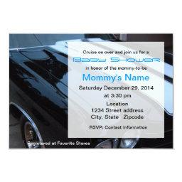 Custom Muscle Car Baby Shower  - Blue
