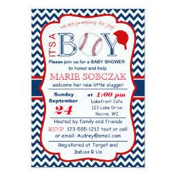 Customizable Baseball Baby Shower