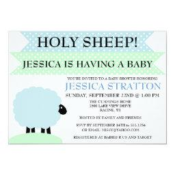 Cute And Fun Sheep Baby Shower Invite - Customize
