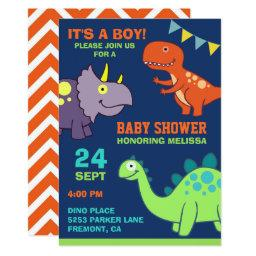 Cute Baby Dinosaur Baby Shower