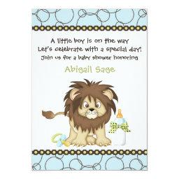 Cute Baby Lion Boys Baby Shower
