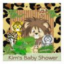 Cute Baby Shower Cheetah Theme Invitationss