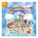 Cute Baby Shower Invitation Rainbow & Clouds