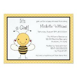 Cute Bumble Bee Polka Dot