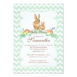 Cute Bunny Rabbit Neutral Baby Shower
