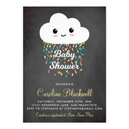 Cute Cloud & Confetti | Chalkboard  Magnetic