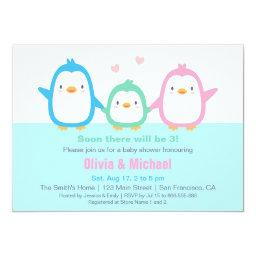 Cute Colourful Penguin Baby Shower