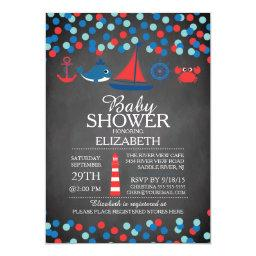 Cute Confetti Nautical Boys Baby Shower