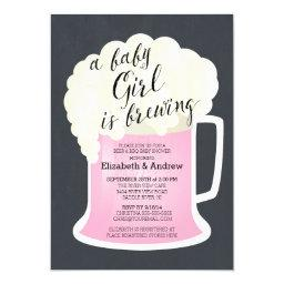 Cute Couples Girls Baby Shower Baby Brewing