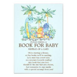 Cute Dinosaur Baby Shower Book for Baby