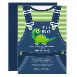 Cute Dinosaur Baby Shower Invitation