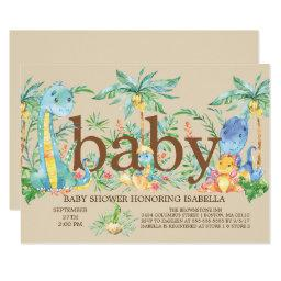Cute Dinosaur Boys Baby shower