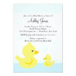 Cute Duck Baby Shower Invitations