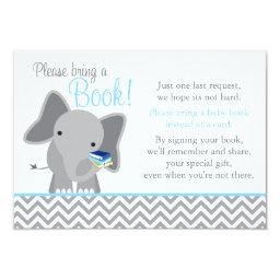 Cute Elephant Chevron Light Blue  Book