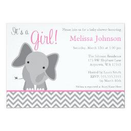 Cute Elephant Chevron Pink