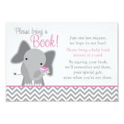 Cute Elephant Chevron Pink Girl Baby Shower Book