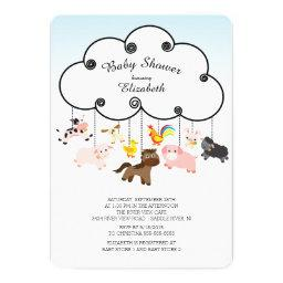 Cute Farm Animals Baby Shower