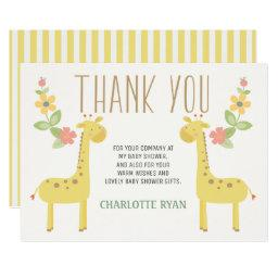 Cute Giraffes  Thank You