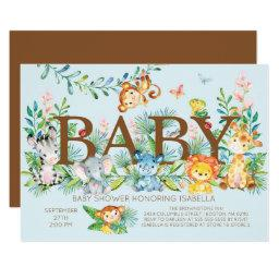 Cute Jungle Animals Boys Baby shower