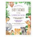 Cute Jungle Safari Animal Baby Shower Invitation Postinvitations