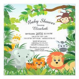 Cute Jungle Safari Baby Shower