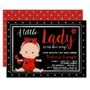 Cute Little Lady Ladybug Baby Shower Invitation