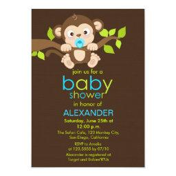 Cute Little Monkey Boy Baby Shower