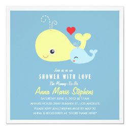 Cute Little Whales Baby Shower