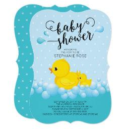 Cute Mom Duck & Baby Shower Invitations