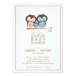 Owl baby shower invitations babyshowerinvitations4u cute owl family couples baby shower filmwisefo